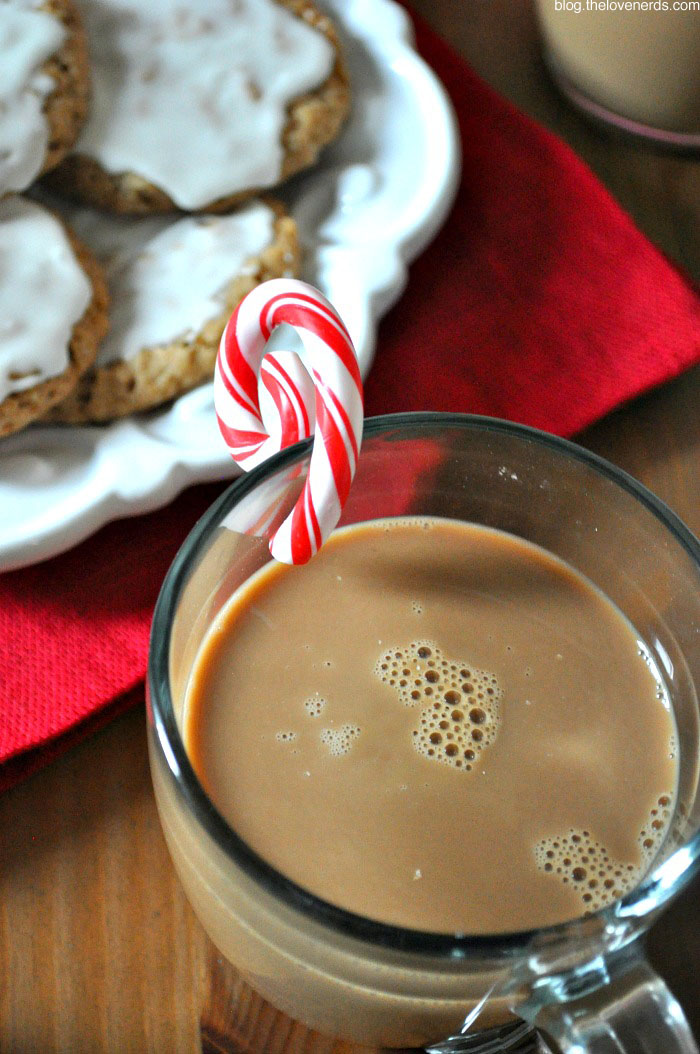 5 Tips for Hosting an Easy and Fun Holiday Cookie Exchange Party - I had so much fun with this party, and it really came together quickly. Everyone contributes cookies to share, and I relied on Starbucks Discoveries Iced Café Favorites™ Peppermint Mocha and Gingerbread Latte for a special drink I could easily pour! {The Love Nerds} #starbucksdiscoveries #ad