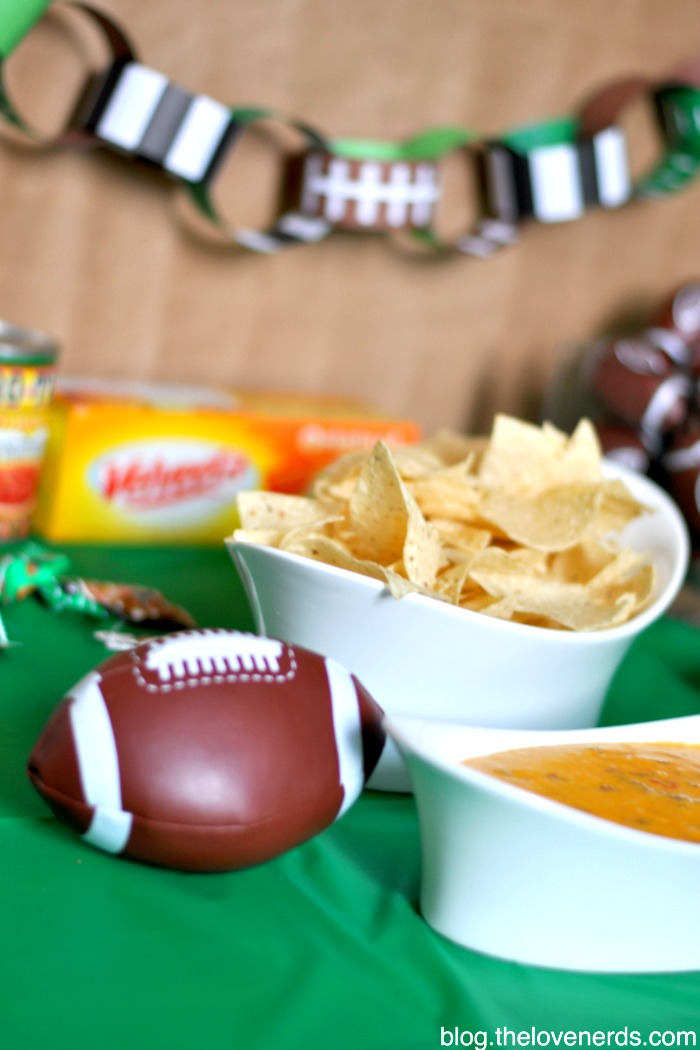 Hot Sausage Queso - An easy and delicious snack idea for the Big Game or family get together! There's just something so delicious when you combine Velveeta and Rotel together! {The Love Nerds} #QuesoForAll