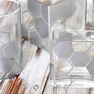 DIY Geometric Vases