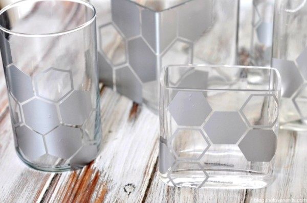 An easy and frugal DIY home decor project - Geometric Vase Design! My husband and I both love them, but for very different reasons! {The Love Nerds}