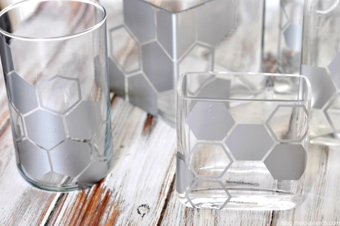 An easy and frugal DIY home decor project - Geometric Vases! My husband and I both love them, but for very different reasons! {The Love Nerds}