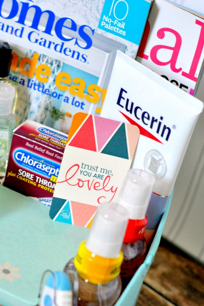 Prepare for the Cold & Flu Season and Guests with this DIY Get Well Kit! It's the perfect way to make sure your guests are comfortable, even if they aren't feeling well! {The Love Nerds} #RealRelief #Ad