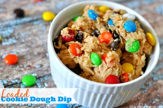 You will not be able to put down this Loaded Cookie Dough Dip! Easy to prep and even easier to lose track and eat the whole bowl! {The Love Nerds}
