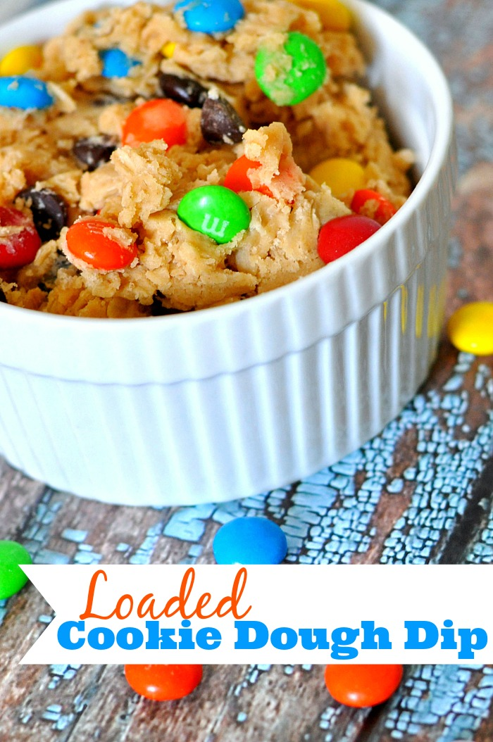 You and your family/friends will not be able to put down this Loaded Cookie Dough Dip! Easy to prep and even easier to lose track and eat the whole bowl!  {The Love Nerds}