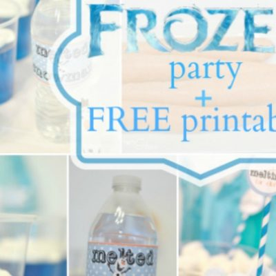 Frozen Party with Free Printables