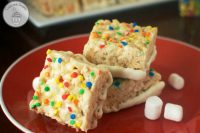 Funfetti Rice Krispie Treats - The perfect birthday treat for all ages!
