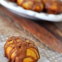 Chocolate Glazed Cookie Butter Cinnamon Rolls