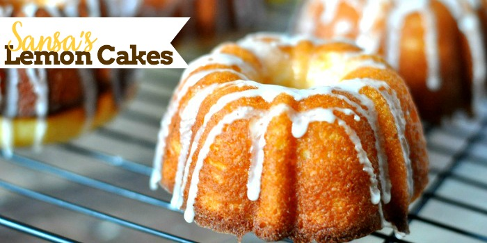 Inspired by The Game of Thrones famous dessert - Sansa's Lemon Cakes! These mini lemon bundt cakes are easy to make with the perfect blend of sweet and tart! {The Love Nerds}