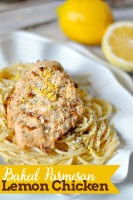 The perfect spring and summer recipe for dinner - Baked Parmesan Lemon Chicken! {The Love Nerds} #SCNRF #Pmedia #ad @natureraised