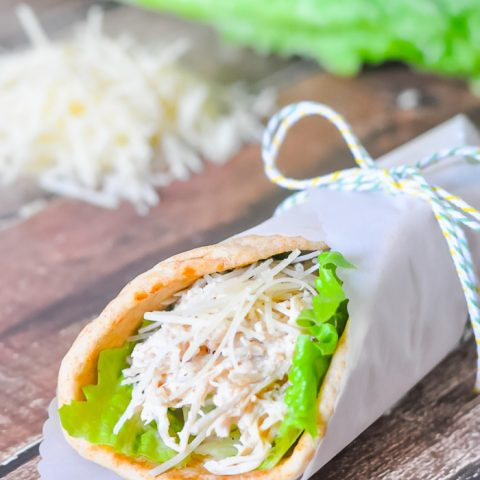 Slow Cooker Chicken Caesar Wraps