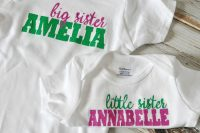 DIY Sibling Shirts