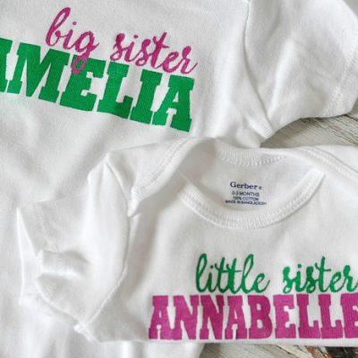 DIY Sibling Shirts
