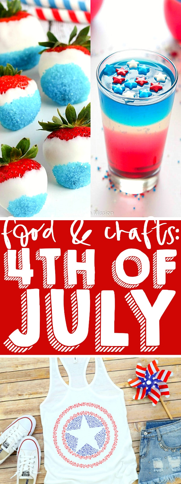 Over 50 4th of July ideas to make your perfect holiday celebration! Ideas for 4th of July recipes - side dishes, main meal, desserts and drinks - as well as 4th of July crafts and party ideas! Everything you need in one place! | THE LOVE NERDS #fourthofjuly #redwhiteandblue #patrioticrecipes #patrioticcrafts
