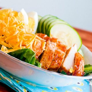 Looking for the perfect summer salad? Try this BBQ Chicken Cobb Salad with a delicious Angry Orchard BBQ Sauce Recipe! |The Love Nerds Contributor