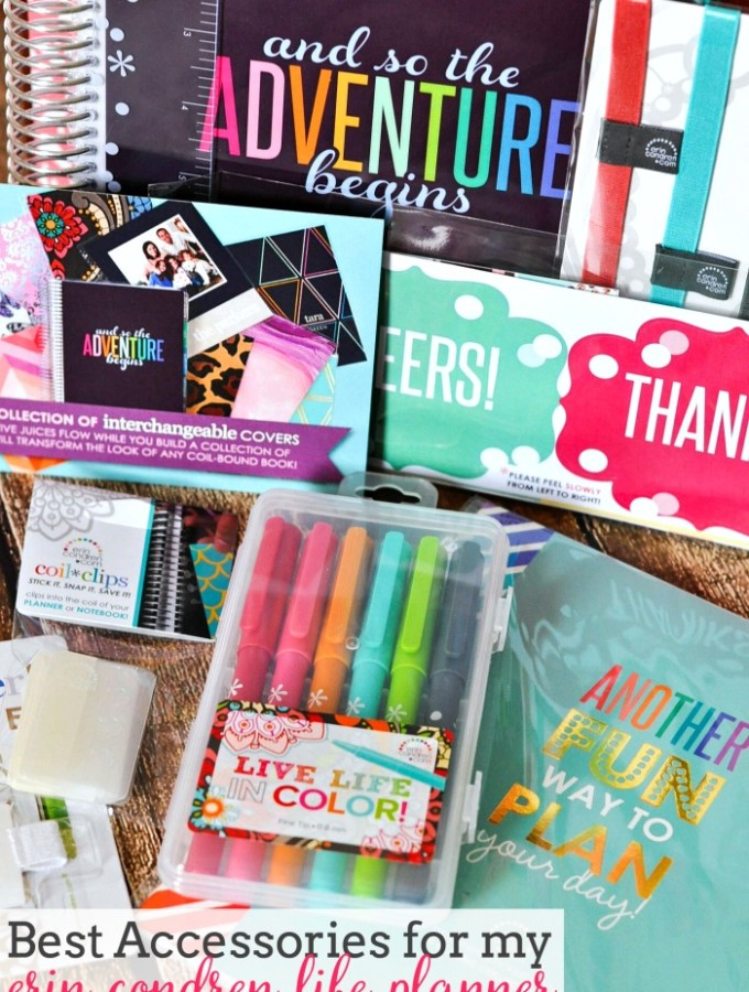 Best Accessories for my Erin Condren Life Planner