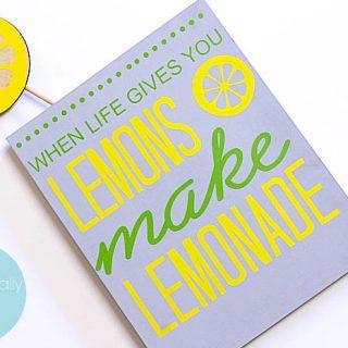 Make Lemonade Summer Sign
