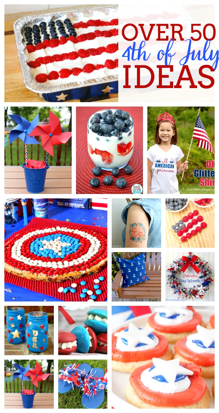 Over 50 4th of July Ideas - including patriotic recipes and red, white and blue craft ideas! |The Love Nerds