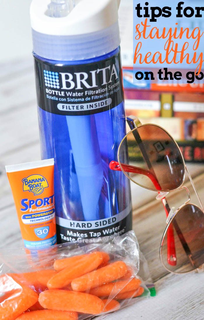 Summer is all about that fun in the sun, but it's still important to take care of yourself and family. Check out these tips for staying healthy on the go! |The Love Nerds #BritaOnTheGo #Pmedia #ad @BritaUSA @Walmart