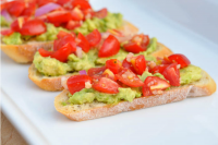 Avocado Bruschetta Crostinis