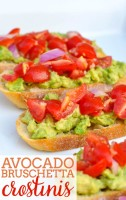 A fresh and light appetizer recipe that everyone will love - Avocado Bruschetta Crostinis! Plus, they're easy to make. | The Love Nerds