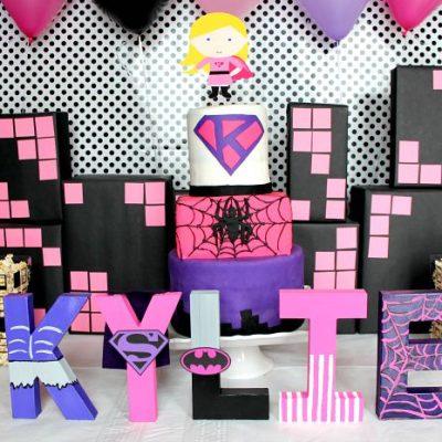Girly Superhero Birthday Party Ideas