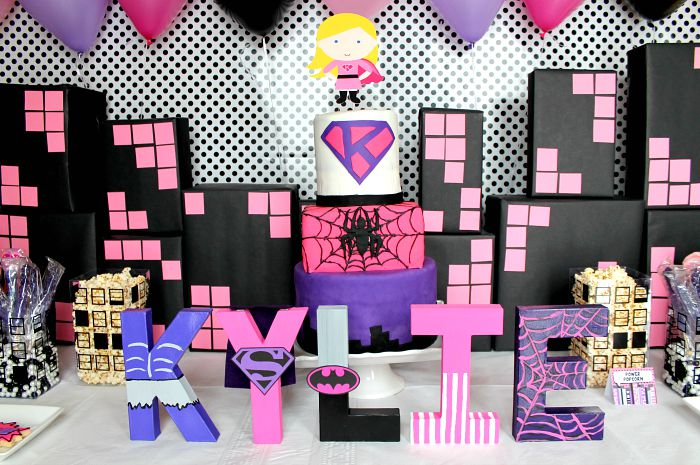 Girly Superhero Birthday Party Ideas The Love Nerds