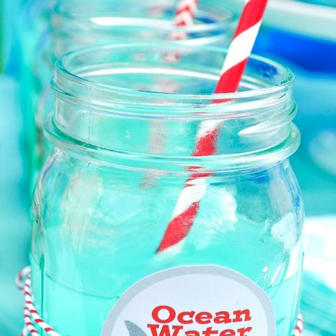 Ocean Water Blue Punch