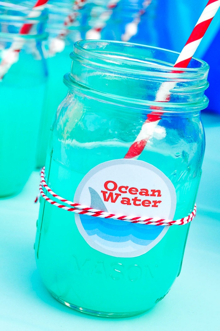 Blue Ocean Water Alcoholic Drink
