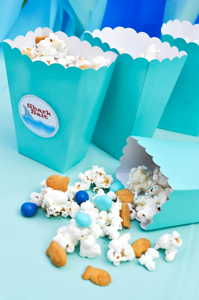 Shark Bait Ocean Party Popcorn Mix The Love Nerds