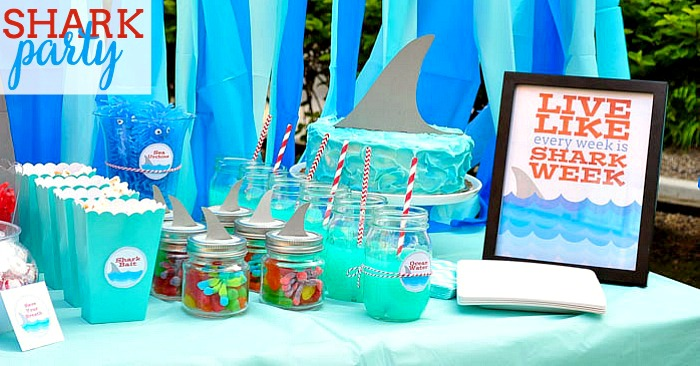Shark Party Ideas The Love Nerds