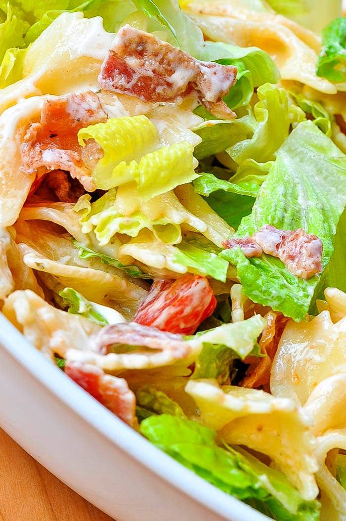 Add a new side dish to your table and toss up this Zesty Ranch BLT Pasta Salad! With a Ranch dressing, it's sure to be a crowd pleaser!   The Love Nerds
