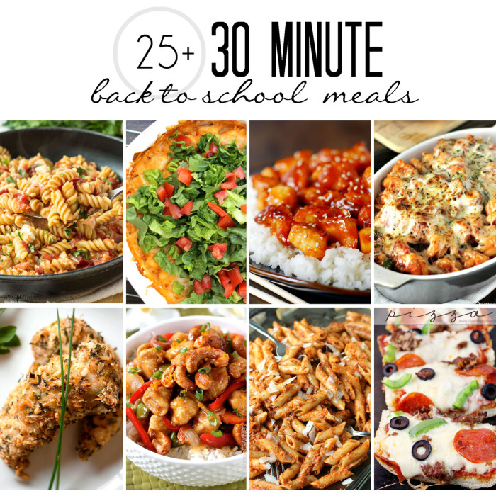 25+ 30 minute meals - These recipes are perfect for back to school dinners! | The Love Nerds