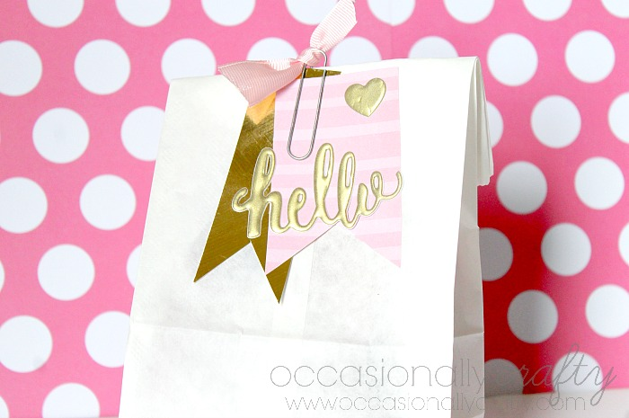 Tickled Pink Gift Bag - a cute, colorful and easy way to show you care! Give to a friend, neighbor or teacher to spread some love! | The Love Nerds Contributors