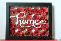 Home Wall Art - Gorgeous 3D Flower Shadowbox wall art made with paper flowers! | The Love Nerds