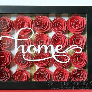 Home Wall Art in 3D Flower Shadowbox