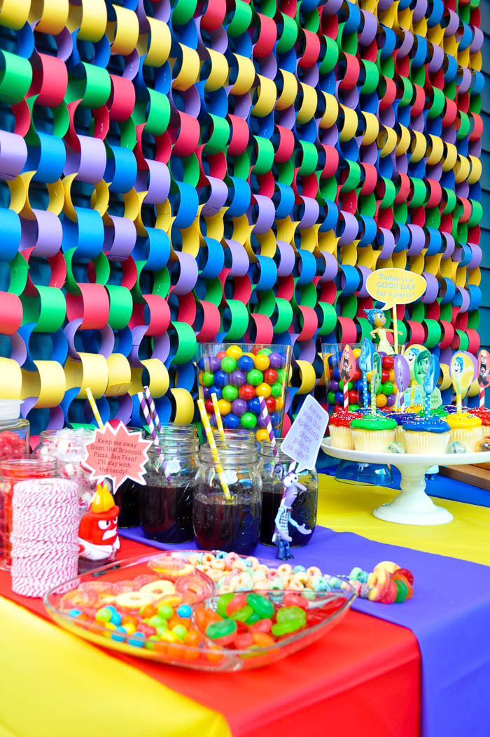 Fun and colorful Inside Out Party! Ideas! Celebrate your feelings and ...