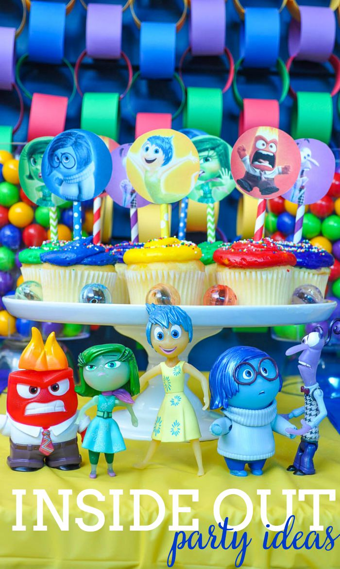 Fun and colorful Inside Out Party! Ideas! Celebrate your feelings and your Disney Side with this birthday party! | The Love Nerds