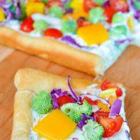 Dill Cream Cheese Veggie Pizza