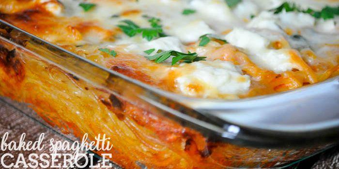 Baked Spaghetti Casserole Recipe - A family favorite dinner idea that everyone will love! | The Love Nerds