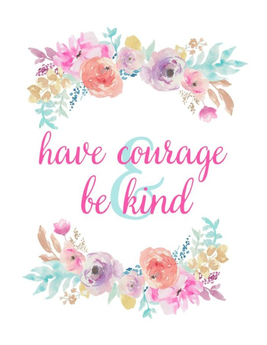 photograph regarding Have Courage and Be Kind Printable identify Bippity Boppity Boo - Free of charge Cinderella Printables - The Appreciate