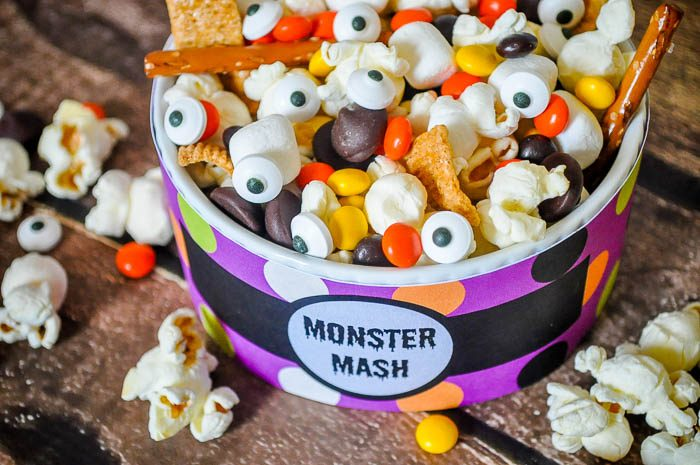 Monster Mash - A Fun and Easy Halloween Trail Mix - The Love Nerds