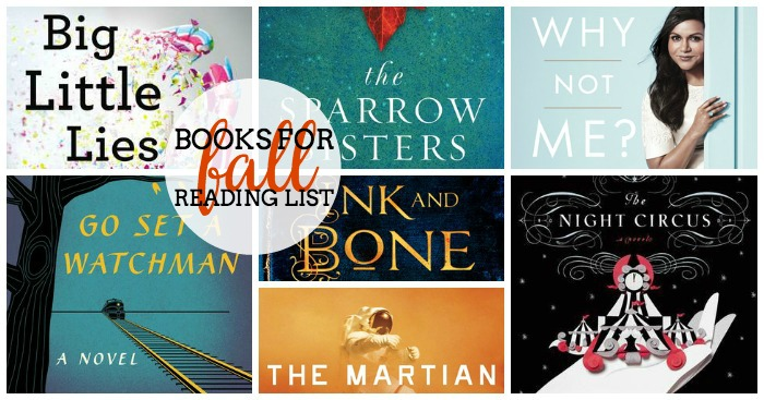 12 Books for your Fall Reading List - Some are a little spooky, some are just fun. Some are romantic and some are about family. There is a little something that everyone will love, including Mindy Kaling! ! The Love Nerds