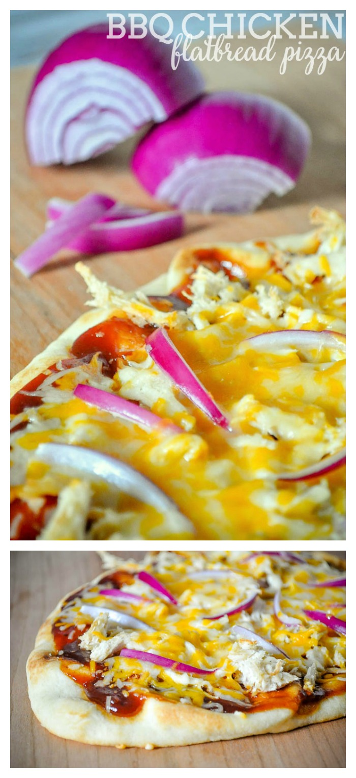 BBQ Chicken Flatbread Pizza - Homemade Pizza doesn't have to be hard! This recipe takes 15 minutes, making it a yummy, quick meal idea or game day item! | The Love Nerds