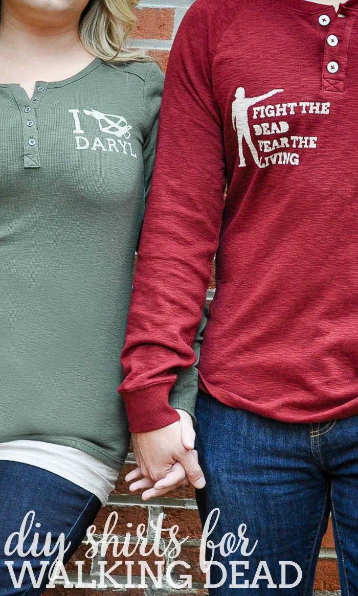 Celebrate your Walking Dead obsession with DIY Walking Dead Shirts!! Show your love for Daryl or Rick or even make a zombie shirt! So many DIY options! | The Love Nerds