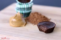 Creamy Chocolate Peanut Butter Fudge made with only 5 ingredients! It's the perfect way to satisfy your sweet tooth if you are trying to eat cleaner! | The Love Nerds Contributors
