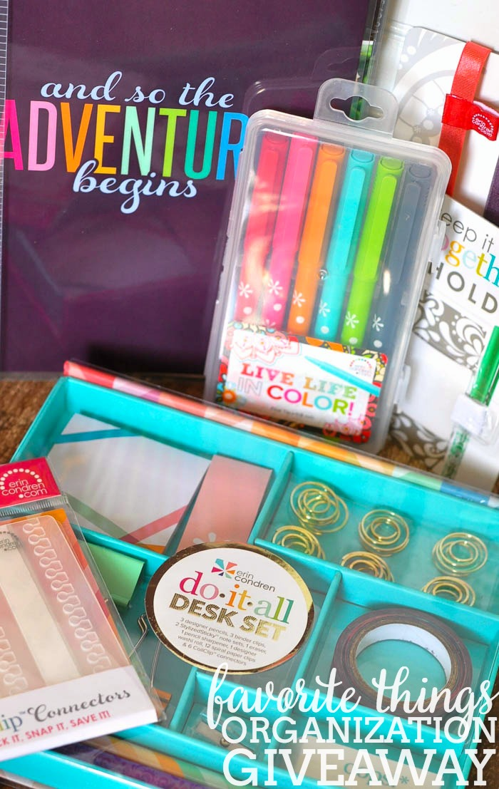 My Favorite Things for Organization Giveaway - Get ready for 2016 with your own Erin Condren organization tools! | The Love Nerds