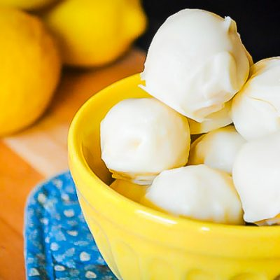 Lemon Coconut Truffles