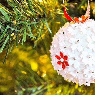 DIY Paper Pomander Ornaments