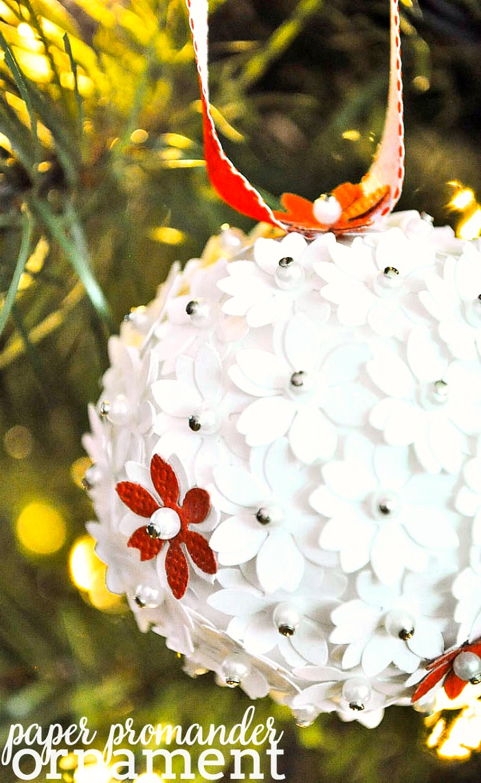 DIY Paper Pomander Ornaments - Pretty DIY ornaments with great texture are easily coordinated for your Christmas decor. They make a great gift idea, too! | The Love Nerds