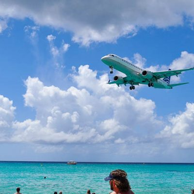 St Maarten Cruise Port and Airport Beach